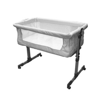 • BABY CRIB BED: Keep your baby safe, comfortable and close to you with our CH-120 baby crib bed. Can be used as a standalone crib or a co-sleeping crib. Free 1-year parts & labor warranty. • DROP DOWN SIDE: Keep your baby close by using as a co-sleeping crib. Drop down the side and secure the crib to your bed with the safety straps. • MAXIMUM COMFORT: Soft and comfortable, padded mattress which also reclines to improve baby's digestion and breathing. Height can be adjusted by up to 6 levels to suit your baby's needs. • EU & UK SAFETY APPROVED: Meets all EU and UK safety standards for optimum safety for your baby or child. Snug & secure fit.